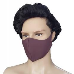 Masca protectie, material textil, burgundiu