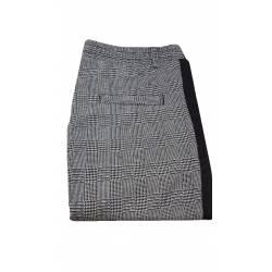 Pantaloni dama smart-casual, gri cu dunga neagra