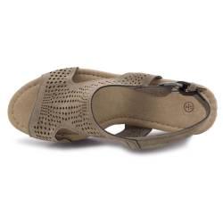 Sandale dama Esmara, cu platforma, kaki-maro