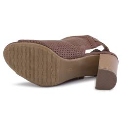 Sandale dama Esmara, cu toc, maro