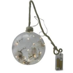 Glob de sticla, transparent, cu pene