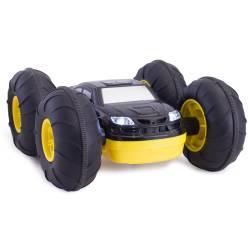 Masinuta cu telecomanda, STUNT CAR, 360°, din plastic ,  galben si negru