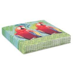 Servetele de masa,verde cu imprimeu papagali
