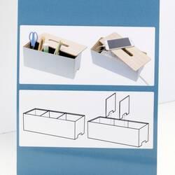 Cutie depozitare pentru birou, alba