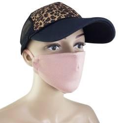 Masca protectie, roz pudrat
