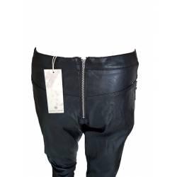 Pantaloni dama piele ecologica, negri