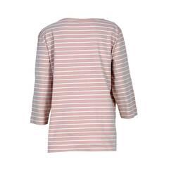 Bluza dama , roz piersica cu dungi albe
