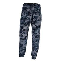 Pantaloni de kamuflaj, cu nuante de gri si albastru