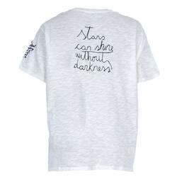 Tricou dama Zara, alb cu scris rosu-negru