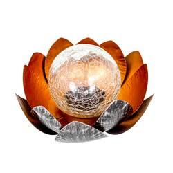 Lampa solara, floare de lotus