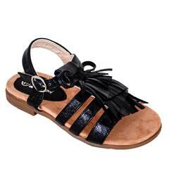 Sandale fetite Doremi, cu fundite si franjuri