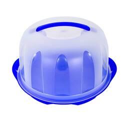 Suport rotund pentru torturi, cu capac, din plastic