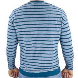 Bluza barbati, STICH&SOUL, azuriu