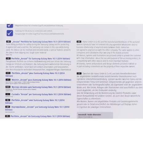 "HUSA PETRU SAMSUNG GALAXY NOTE 10.1 ""AREZZO"""