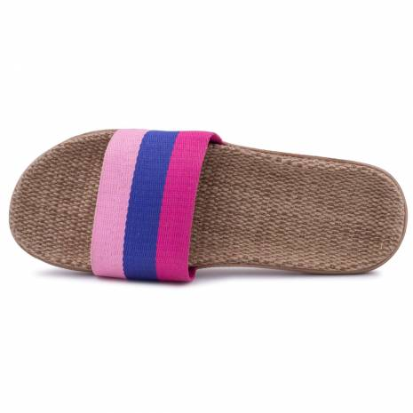 Slapi dama, multicolori, roz-albastru