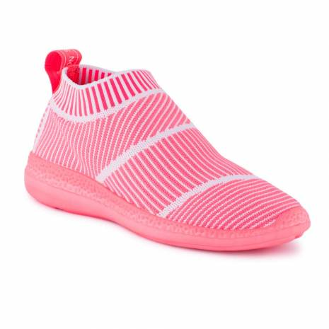 Sneakers, Jumex Collection, roz inchis cu dungi albe