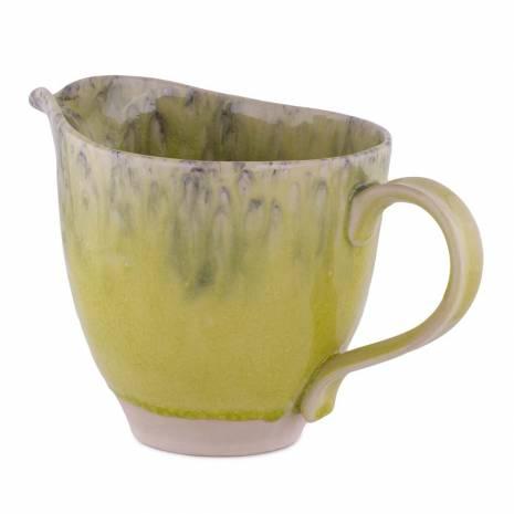 Cana decorativa, din ceramica, verde