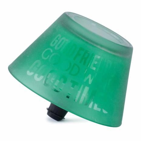 Dop de sticla, verde, in forma de suport candela