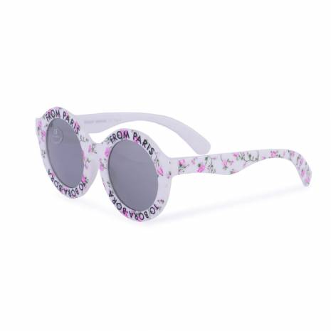 Ochelari de soare, Tally Weijl, alb cu imprimeu floral