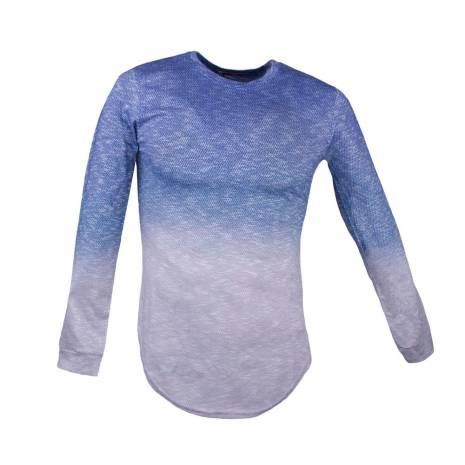 bluza barbati, albastru-gri