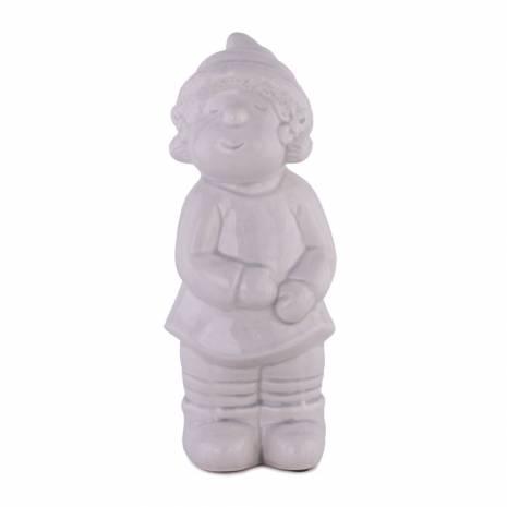 Statueta pitic de gradina, fata, ceramica