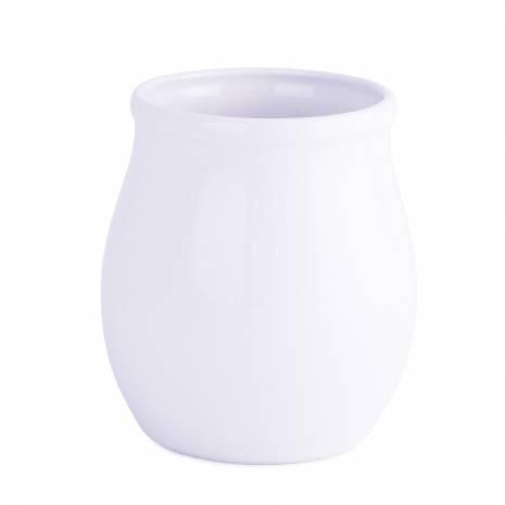 Bol decorativ, din ceramica, alb