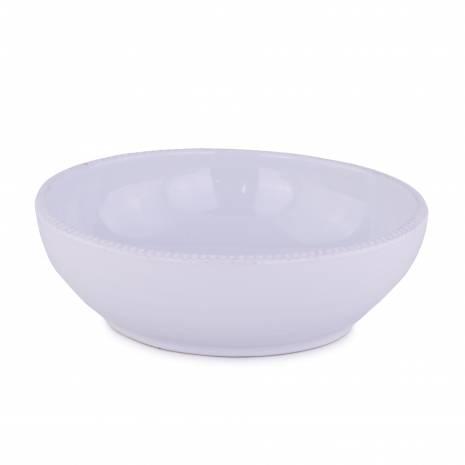Bol, din ceramica, alb