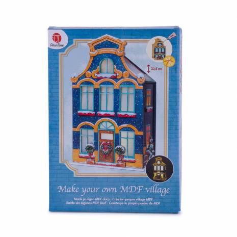 Casute decorative 3D, DecoTime, albastru