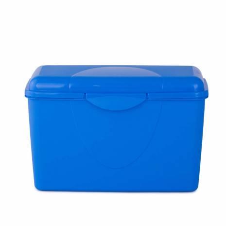 Cutie pentru depozitare, cu capac, albastra