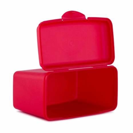 Cutie pentru depozitare, cu capac, rosu