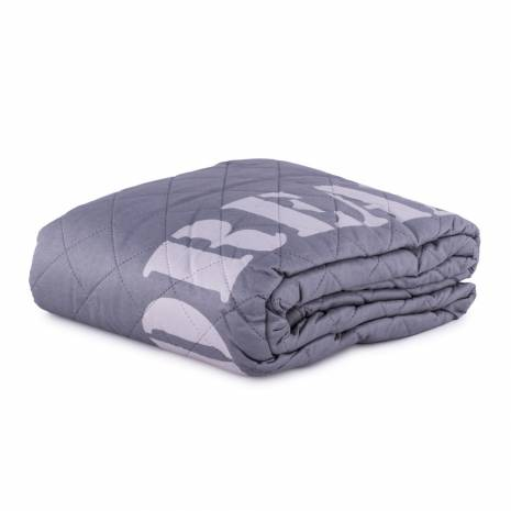 Cuvertura de pat, Oeko tex, gri, cu mesaj