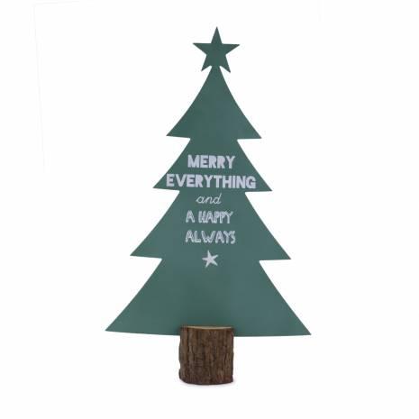 Bradulet din lemn, decoratiune cu mesaj