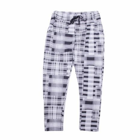 Pantaloni dama, negru-alb