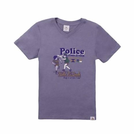 Tricou Police zebra, gri-inchis