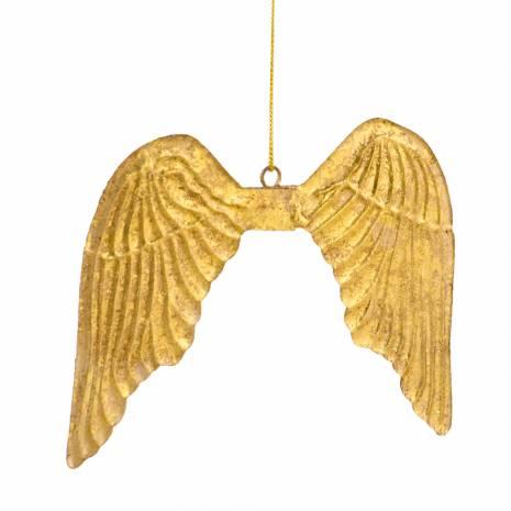 Aripi din  metal decorative, aurii