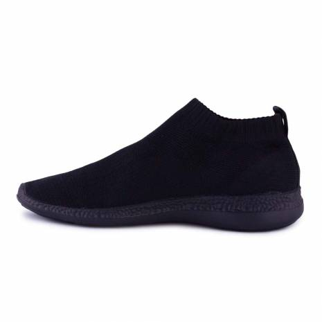 Sneakers, Jumex Collection, negru fara sireturi