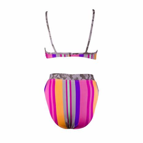 Costum de baie in 2 piese, Beco, dungi, multicolor