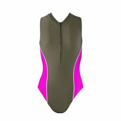 Costum de baie intreg, Beco, kaki-roz
