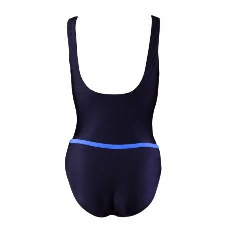 Costum de baie 2 piese, Beco, negru-albastru