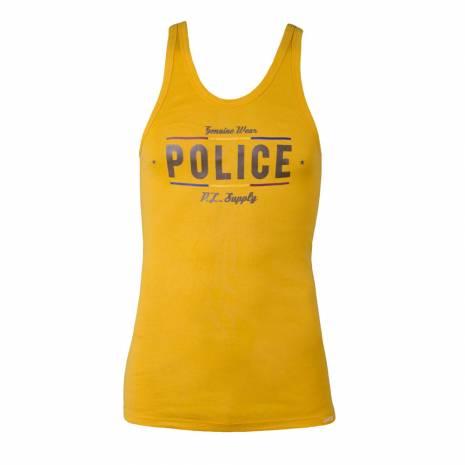 Maiou Police barbati, galben, cu scris maro
