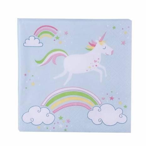 Servetele cu model unicorn
