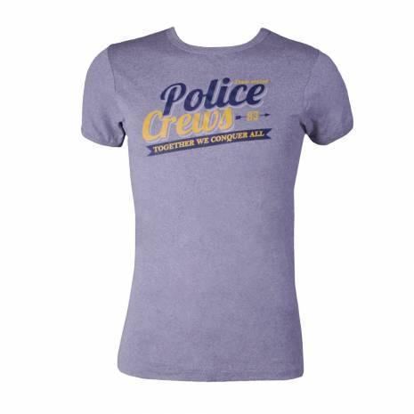 Tricou Police barbati, gri, cu scris