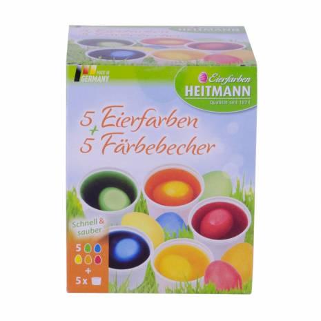 Vopsea oua lichida, Eierfarben heitmann, verde-albastru-galben-portocaliu-rosu