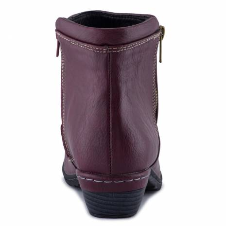 Botine dama, bordo