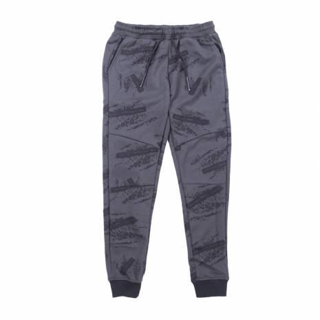 Pantaloni trening barbati, kaki-negru