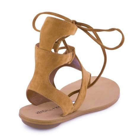 Sandale din piele intoarsa, Kendall+Kylie ,maro