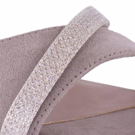 Sandale dama, Tamaris, bej cu pietricele albe