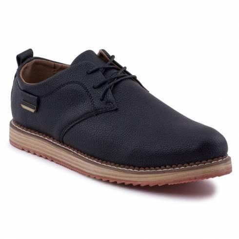 Pantofi din piele naturala, negri