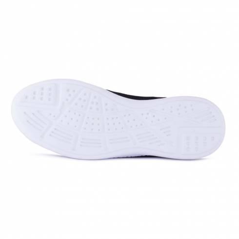 Sneakers, Jumex Collection, negru-rosu cu talpa alba