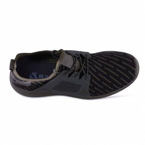 Sneakers, Jumex Collection, negru-kaki cu sireturi